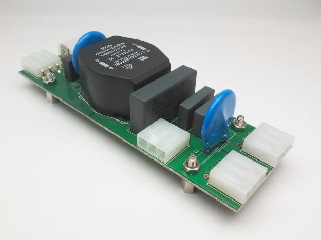 Conexiones con filtro EMI corriente alterna.