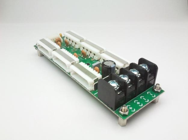 Conexiones con filtro EMI corriente contina