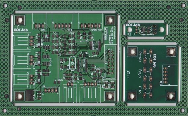 Cara de componentes del panel compuesto del kit de control de TFT.
