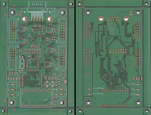 Porción del panelizado del la PCB de control modelo Biznaga. (Ambas caras).
