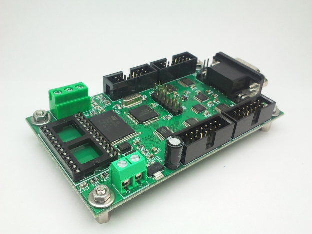 Tarjeta de control de display LED modelo Biznaga. Vista desde el reloj en tiempo real.