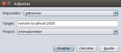 Invocar al cliente de GDB server.