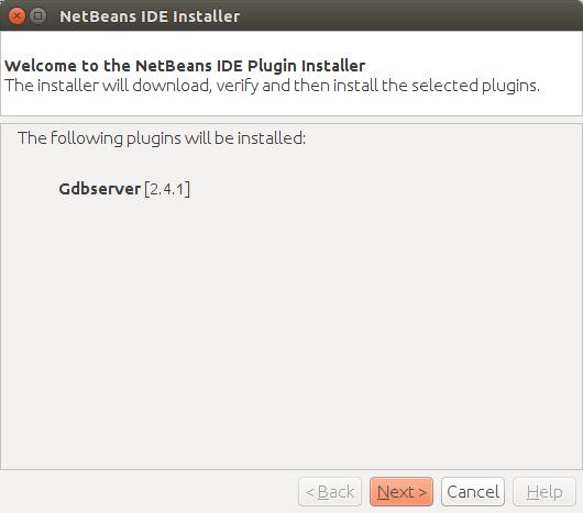 NetBeans IDE plugin installer.