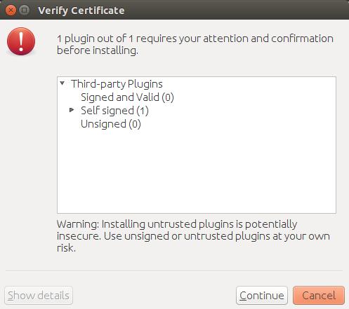 NetBeans plugin verify certificate.
