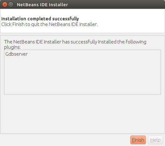 Netbeans plugin installation completed.
